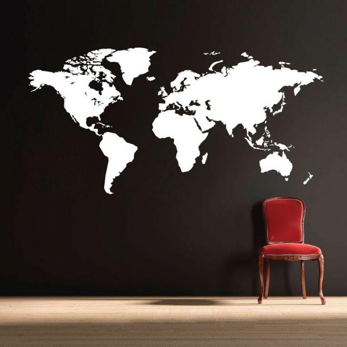 Wall Designer | World Map - Wall Art Sticker on