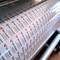 Custom Printed & Cut Transparent Vinyl Stickers Labels