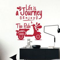 Life is a Journey. Enjoy the Ride - Motivational Decal Wall Sticker