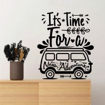 It's Time for a New Adventure - Motivational Decal Wall Sticker
