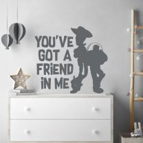Woody and Buzz - You've Got a Friend in Me - Disney Toy Story Decal Wall Sticker