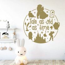 Tale as Old as Time - Beauty and the Beast Story - Disney Decal Wall Sticker