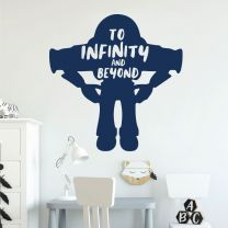 To Infinity and Beyond - Buzz Lightyear - Toy Story Inspired Decal Wall Sticker