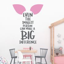Even the Smallest Person... - Winnie the Pooh, Piglet Quote Decal Wall Sticker