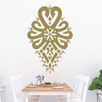 Highlanders Heart Shaped Folk Pattern - Parzenica - Decorative Art Wall Decal