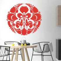 Cockrell on the Farm - Folk Decorative Art - Decal Wall Sticker