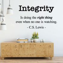 Integrity - Is doing the right thing... - Motivational Office School Wall Quote Decal