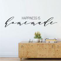 Happiness is Homemade - Family Love Motivational Quote Decal Wall Sticker