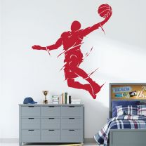 Basketball Player Jumping - NBA Game Sports Wall Decal