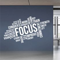 Focus Dedication Results -  Text Cloud Motivational Wall Decal