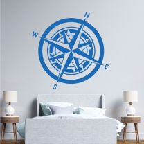 Compass Symbol - Travel, Directions, Map, Adventure - Wall Decal Sticker