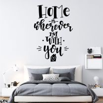 Home is Wherever I'm with You - Family Decal Wall Sticker
