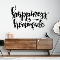 Happiness is Homemade - Home Quote Decal Wall Sticker