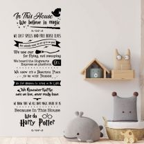 In this House we believe in Magic... - Wizard Home Quote Wall Sticker