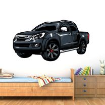 Pickup Truck, Double Cab 4WD - Car Boys Bedroom Wall Sticker
