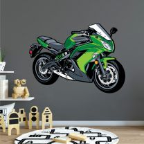 Racing Motorbike Ninja - Boys Bedroom Playroom Wall Sticker