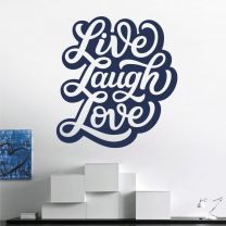 Live Laugh Love - Motivational Quote Decal Wall Sticker