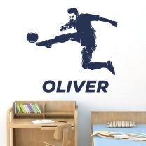 Personalised Name Footballer Football Soccer Game - Sports Decal Wall Sticker
