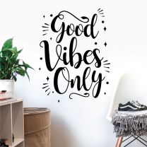Only Good Vibes - Motivational Decal Wall Sticker