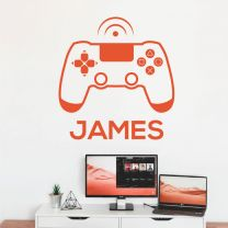 Game Console, Game Controller - XBox, Playstation Personalised Name Decal Wall Sticker