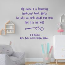 Of course, it is happening inside your head... - Harry Potter J K Rowling Book Quote Decal Wall Sticker