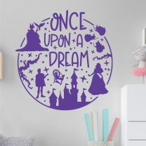 Once Upon a Dream - Sleeping Beauty Maleficent Disney Decal Wall Sticker
