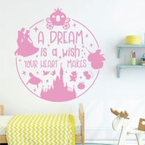 A Dream is a Wish Your Heart Makes - Disney Cinderella Decal Wall Sticker