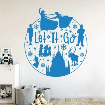 Let it Go - Anna and Elsa - Frozen Disney Inspired Decal Wall Sticker
