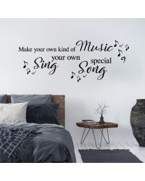 Make Your Own Kind Of Music - Paloma Faith - Song Lyrics Quote Decal Wall Sticker