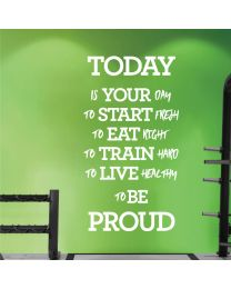 Today is Your Day to Start Fresh... - Motivational Decal Wall Sticker