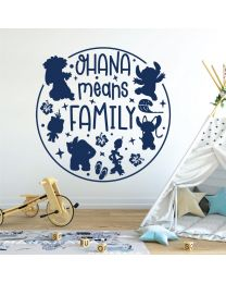 Ohana Means Family - Lilo and Stitch - Disney Inspired Decal Wall Sticker