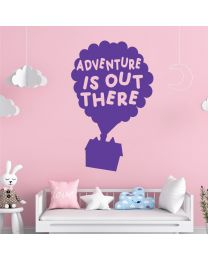 Adventure is Out There - Balloons Flying House - UP Disney Inspired Decal Wall Sticker
