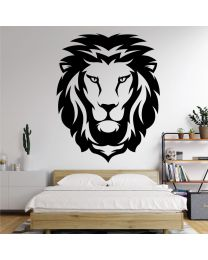 Lion Head, Africa Tribal Art - Bedroom Decal Wall Sticker
