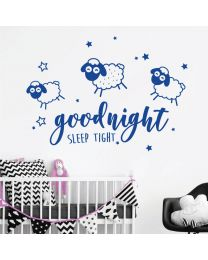 Goodnight Sleep Tight - Counting Sheeps Nursery Decal Wall Sticker