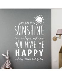You Are My Sunshine, My Only Sunshine - Nursery Decal Wall Sticker