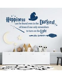 Happiness can be Found Even in the Darkest of Times - Harry Potter Quote Decal Wall Sticker