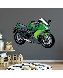 Racing Motorbike Ninja - Boys Bedroom Playroom Wall Sticker