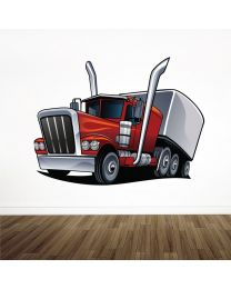 Road American Cargo Truck Lorry - Boys Bedroom Playroom Wall Sticker