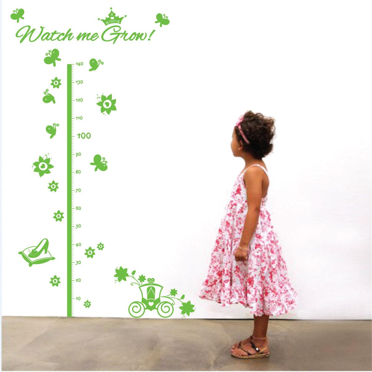 Wall designer height charts children children girls growth height chart cinderella theme kids wall art sticker nvjuhfo Choice Image