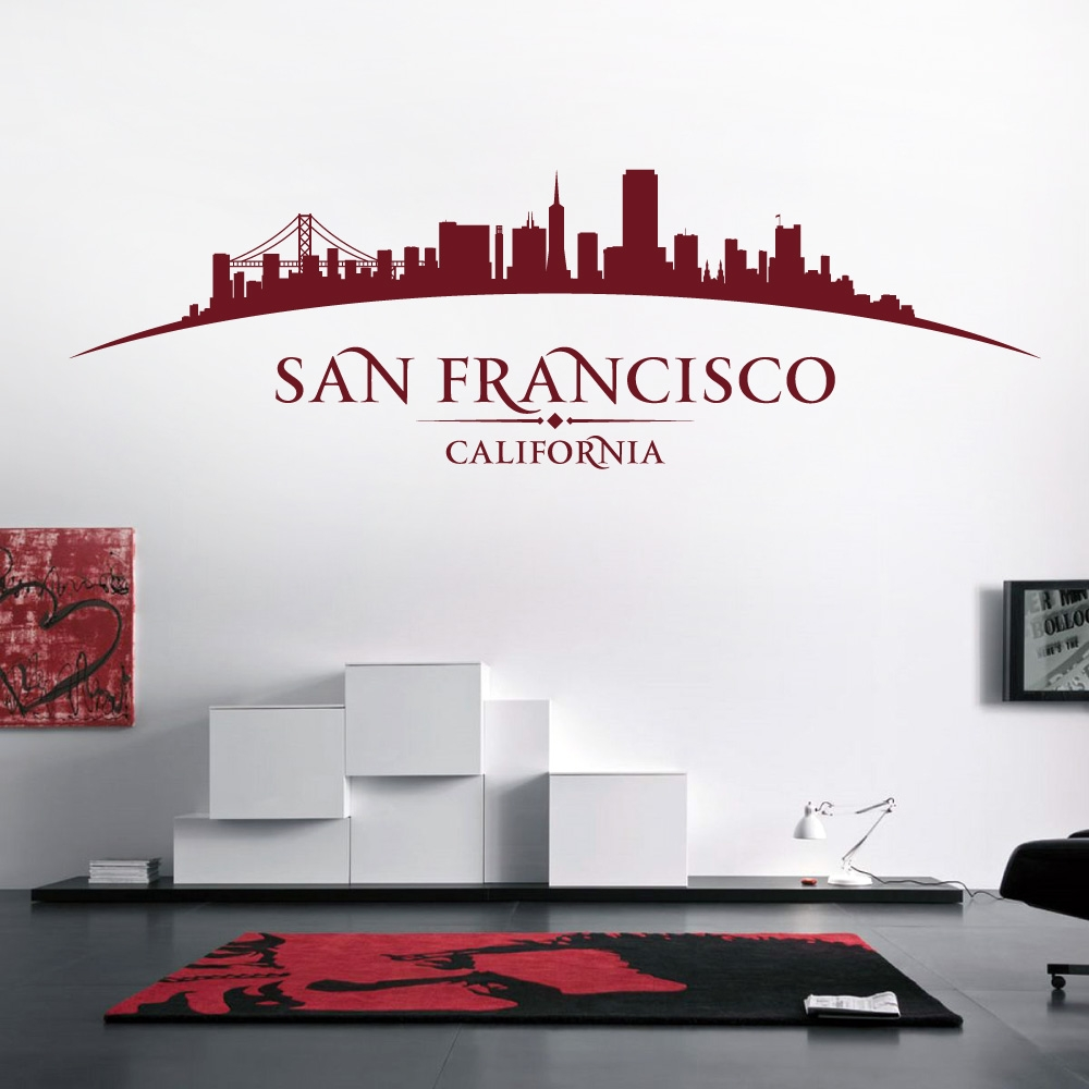Bedroom Living San Francisco California USA City Skyline Golden Gate Bridge