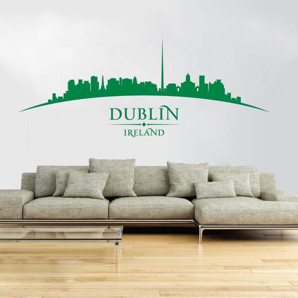 Wall Designer Dublin Ireland City Skyline Dublin Castle The