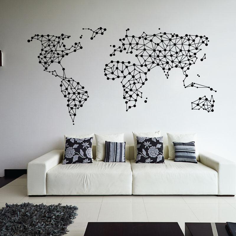 UK MAP VINYL STICKER WALL ART ANY COLOUR FREE WHITE MARKER DOTS DIY HOME